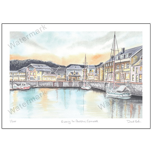 Evening In Padstow,  Print A4 or A3