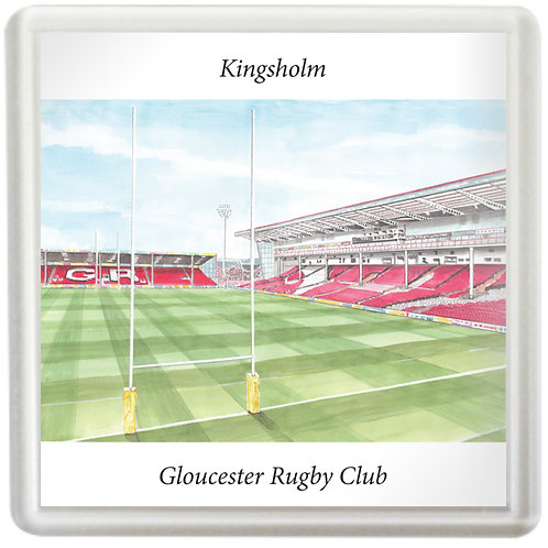 Gloucester Rugby - Kingsholm Behind The Posts- Coaster