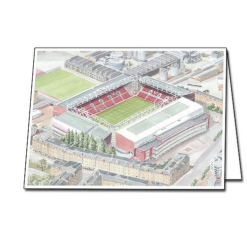 Heart of Midlothian Football Club - Tynecastle - Greetings Card Landscape, A5/A6