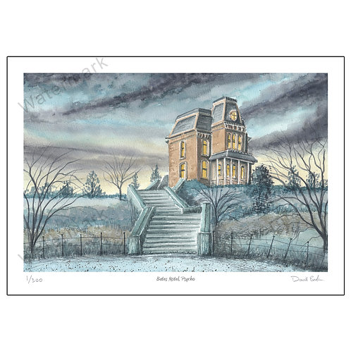 Bates Motel, (from the film Psycho) Print A4 or A3