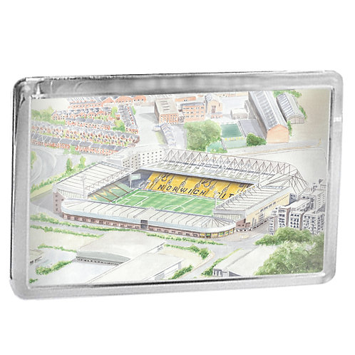 Norwich City Football Club - Carrow Road - Fridge Magnet