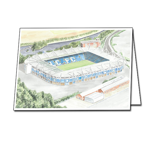Leicester City - The King Power Stadium - Greetings Card Landscape, A5/A6