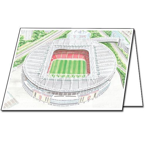 Arsenal, Emirates Stadium - Greetings Card Landscape, A5/A6