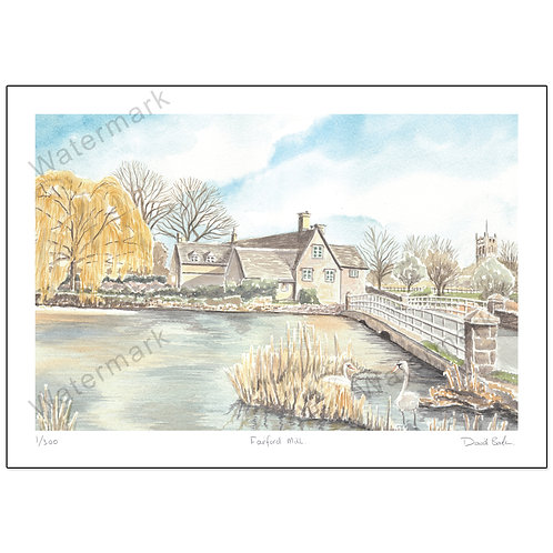 Fairford Mill - Limited Edition,  Print A4 or A3