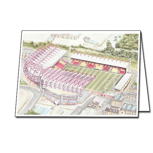 Bradford City Football Club - Valley Parade - Greetings Card Landscape, A5/A6