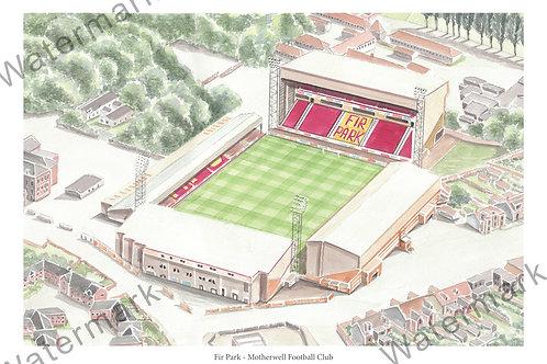 Motherwell Football Club - Fir Park, Print A4 or A3