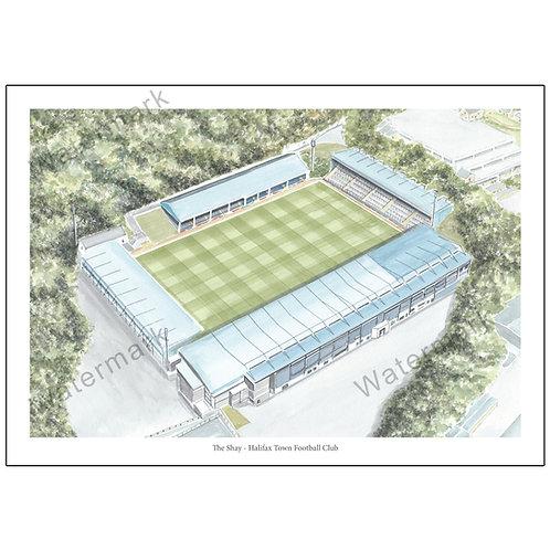 Halifax Town Football Club - The Shay, Limited Edition Print A4