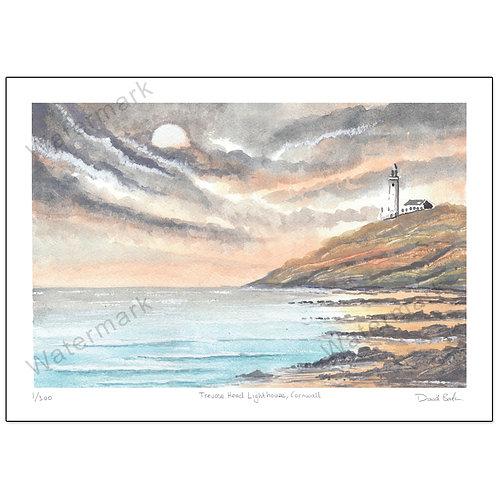 Trevose Head Lighthouse, Cornwall,  Print A4 or A3