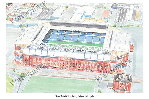 Rangers FC - Ibrox Stadium, Print A4/A3