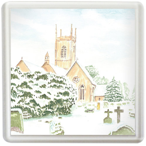 Upton St Leonards Church In Winter - Coaster