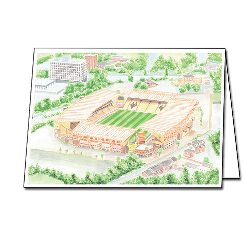 Wolverhampton Wanderers - Molineux - Greetings Card Landscape, A5/A6