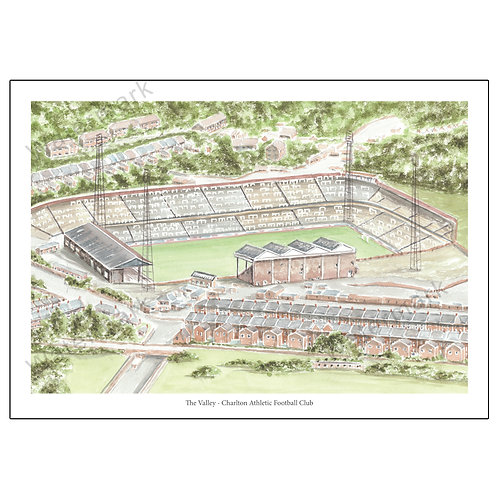 Charlton Athletic FC - The Old Valley, Limited Edition Print A4 / A3