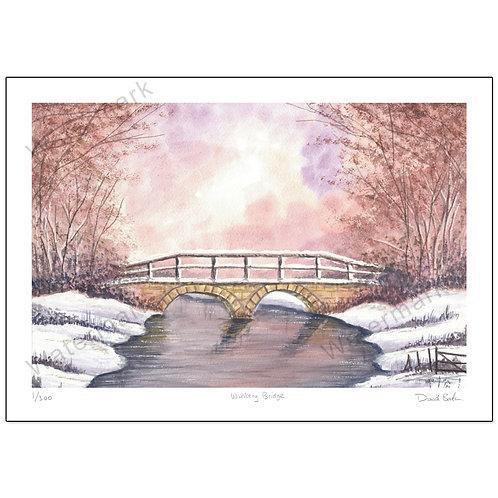 Wintery Bridge,  Print A4 or A3