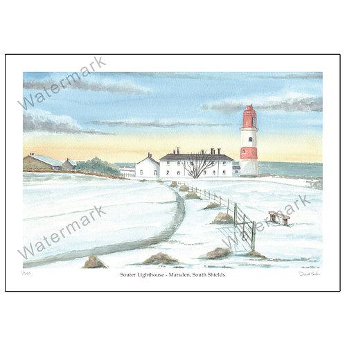 Souter Lighthouse - Marsden, South Shields -  Print A4 or A3