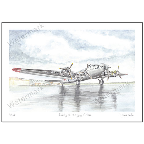 Boeing B-17 Flying Fortress,  Print A4 or A3