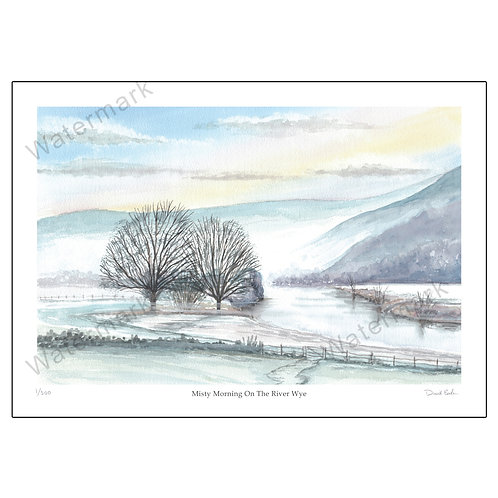 Misty Morning On The River Wye -  Print A4 or A3