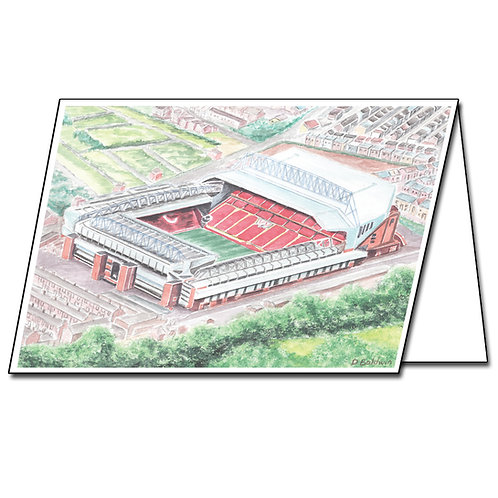 Liverpool, Anfield - Greetings Card Landscape, A5/A6