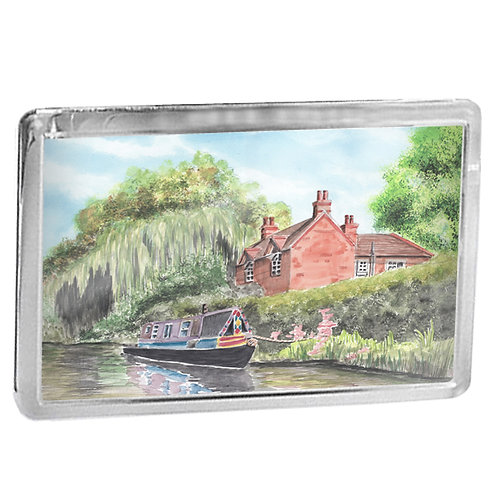 On The Grand Union Canal - Fridge Magnet