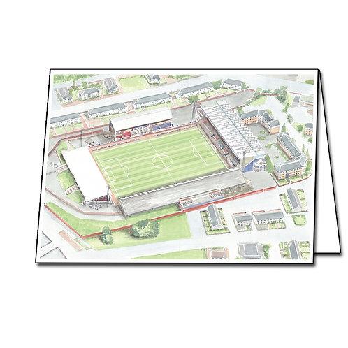 St Mirren FC - Love Street Stadium - Greetings Card Landscape, A5/A6