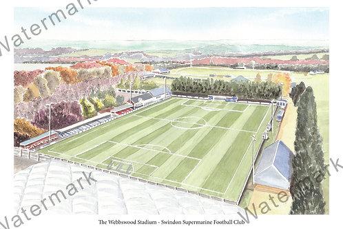 Swindon Supermarine,  Webbswood Stadium,, Limited Edition Print A4 / A3