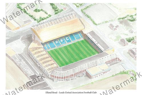 Leeds United - Elland Road, Print A4 or A3