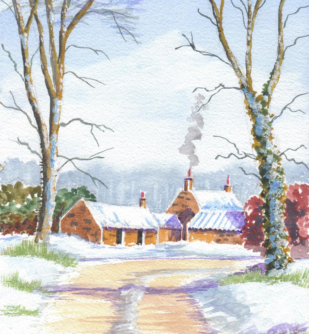 Wintry Farm