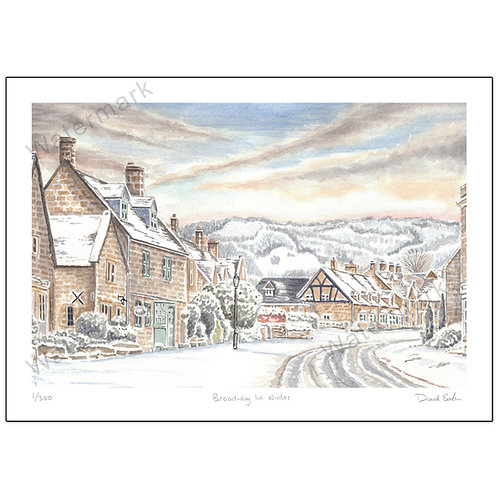 Winter In Broadway - Limited Edition,  Print A4 or A3