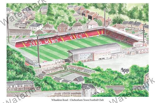 Cheltenham Town FC - Whaddon Road, Print A4 or A3