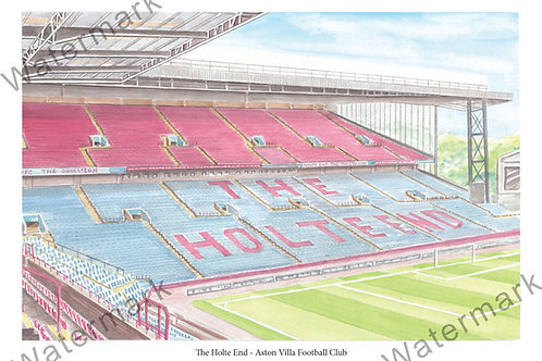 Aston Villa - The Holte End, Limited Edition Print A4 / A3