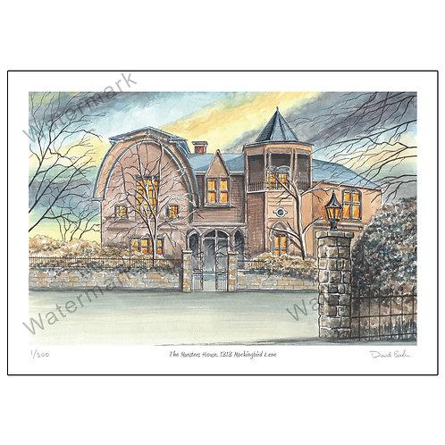 The Munsters House, 1313 Mockingbird Lane, Print A4 or A3
