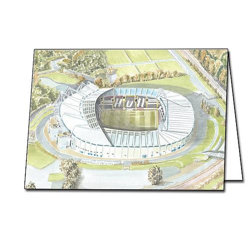 Hull City Football Club - KCOM Stadium - Greetings Card Landscape, A5/A6