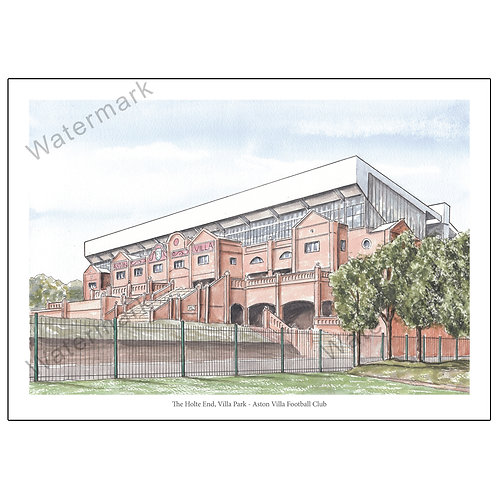 Aston Villa FC, Outside The Holte End - Limited Edition Print A4 / A3