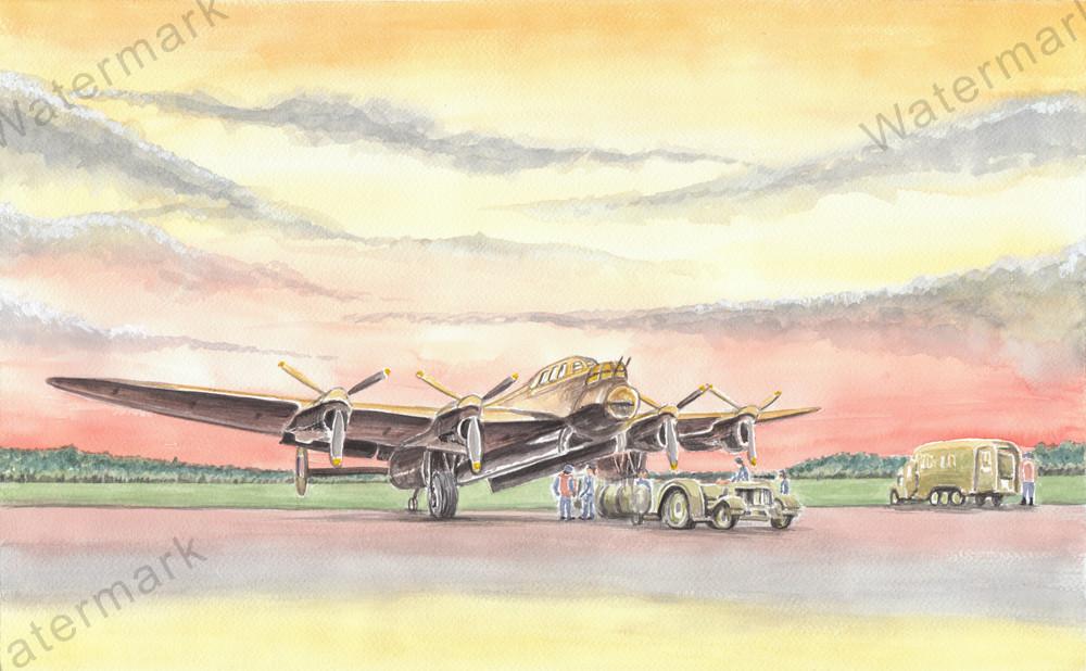 Lancaster-Bomber Preparing For The Mission