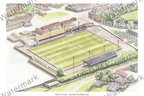 East Fife FC - Bayview Park, Print A4 or A3