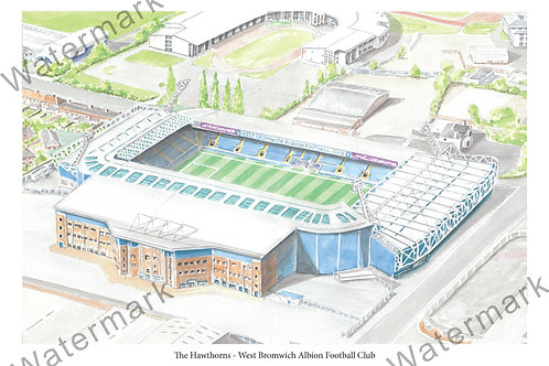 West Bromwich Albion FC - The Hawthorns, Print A4 or A3