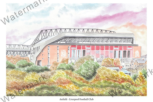 Liverpool - Anfield from outside, Limited Edition Print A4 / A3