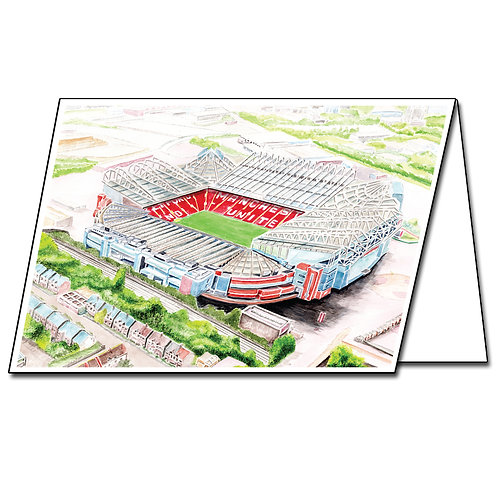 Manchester United, Old Trafford - Greetings Card Landscape, A5/A6