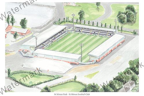 St Mirren Football Club - St Mirren Park, Print A4 or A3