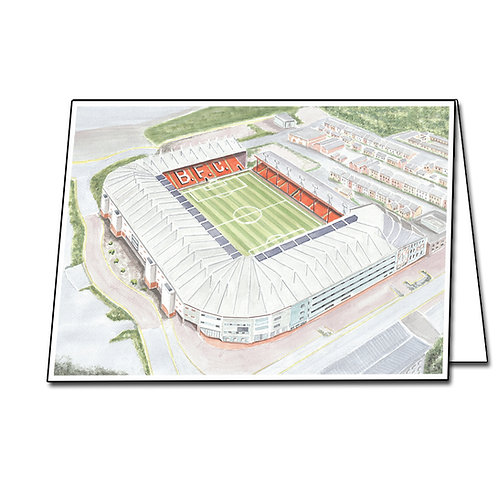 Blackpool Football Club - Bloomfield Road - Greetings Card A5/A6
