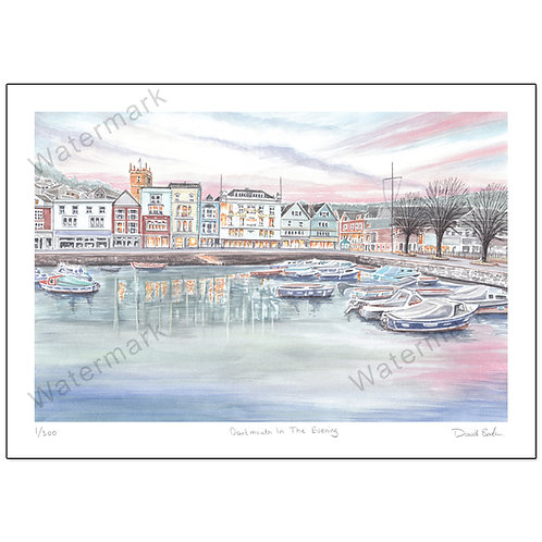 Dartmouth In The Evening,  Print A4 or A3