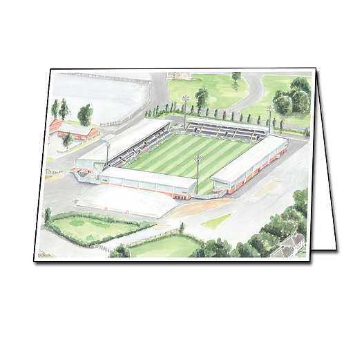 St Mirren Football Club - St Mirren Park - Greetings Card Landscape, A5/A6