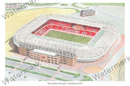 Sunderland AFC - Stadium Of Light, Print A4 or A3