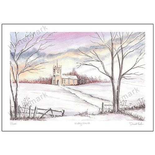 Wintery Church,  Print A4 or A3