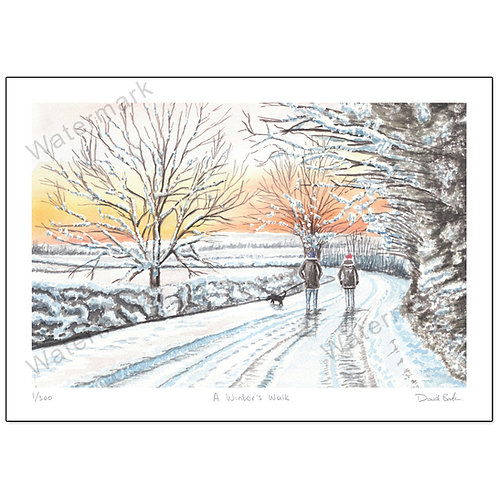 A Winter's Walk - Limited Edition,  Print A4 or A3