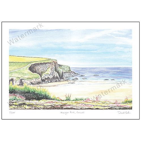 Mawgan Porth, Cornwall,  Print A4 or A3