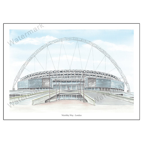 The New Wembley Way - London, Limited Edition Print A4 / A3