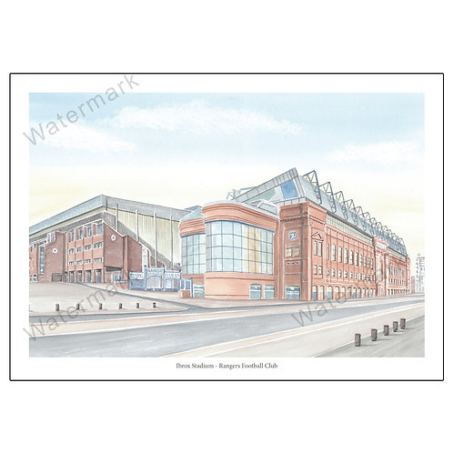Rangers FC - Outside Ibrox Stadium, Print A4/A3