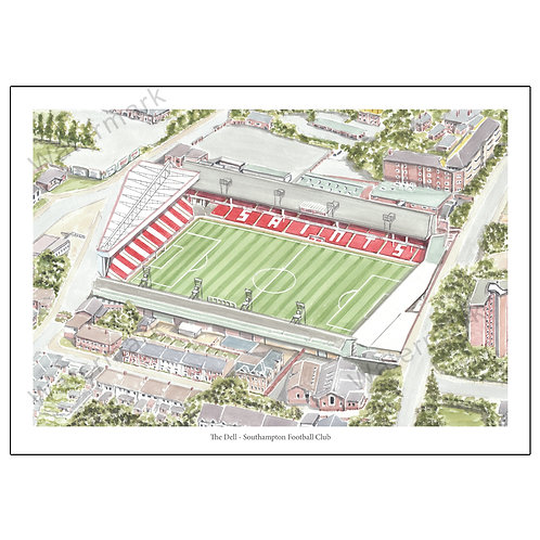 Southampton FC - The Dell, Limited Edition Print A4 / A3