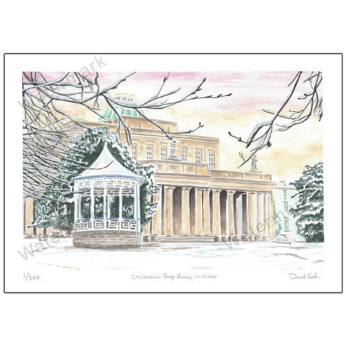 Pittville Pump Rooms, Cheltenham, Print A4