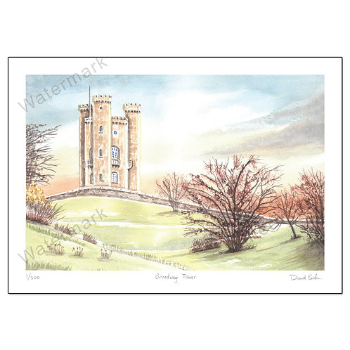 Broadway Tower - Limited Edition,  Print A4 or A3
